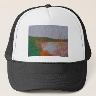 wawa waterfront painting by hart 2 trucker hat