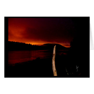 Waweig River at sunset Card