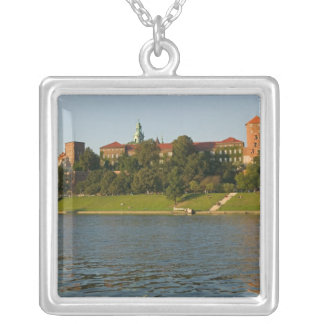 Wawel Hill with Royal Castle and Cathedral, Silver Plated Necklace