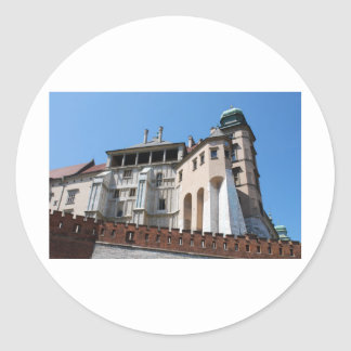 Wawel Royal Castle in Cracow Classic Round Sticker