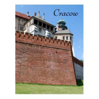 Wawel Royan Castle in Cracow Postcard