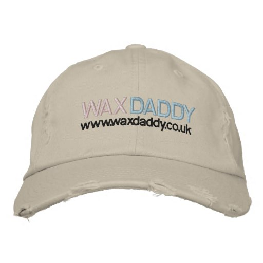 Wax Daddy Emroid Hand Embroidered Baseball Hat