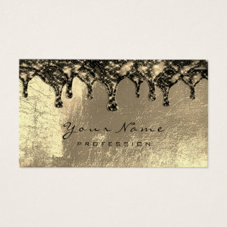 Wax Epilation Depilation Brown Sepia Gold Sparkly Business Card