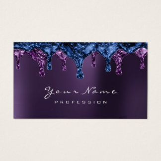 Wax Epilation Depilation Nails Blue Navy Violet Business Card