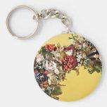 Wax Flower Basket Handle Key Chain