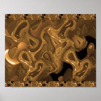 WAX Golden Abstract  : Cosmos Galaxy Infinity Print