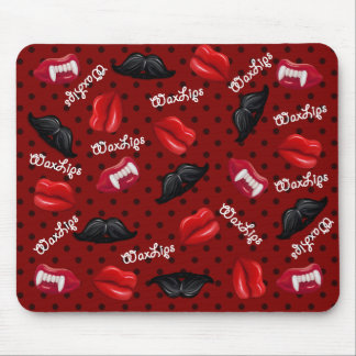 Wax Lips Wax Mustache Mouse Pad WLM-1MP Red Mousepad