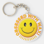 Wax Obsessed Smile Keychain