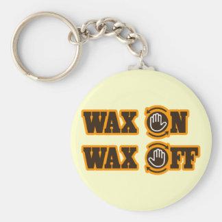 Wax On - Wax Off Keychain