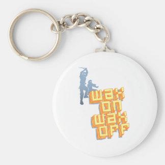 Wax On Wax Off Ninjas Basic Round Button Keychain
