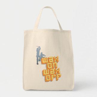 Wax On Wax Off Ninjas Grocery Tote Bag