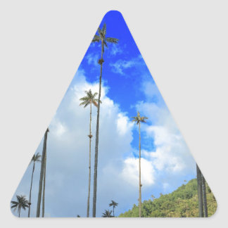 Wax palms Cocora valley Colombia Triangle Sticker