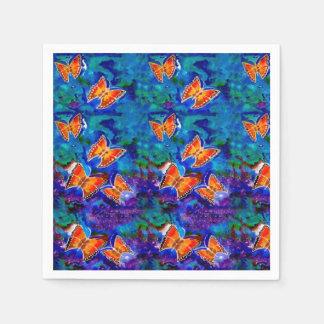 Wax Relief Butterflies Paper Napkins