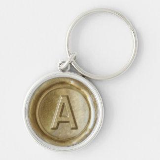 Wax Seal Monogram - Gold - Bold A - Keychain
