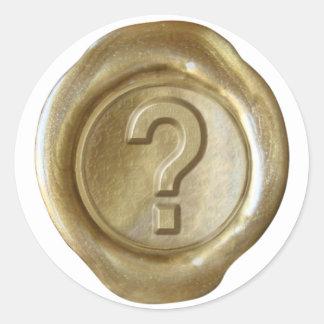 Wax Seal Monogram - Gold - Bold ? - Round Stickers