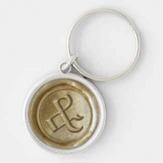 Wax Seal Monogram - Gold - Old English Ampersand - Keychain