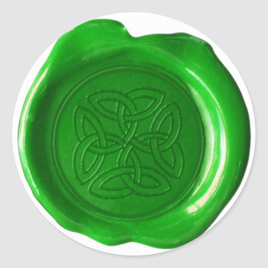 Wax Seal Monogram - Irish Green - Worn Celtic -