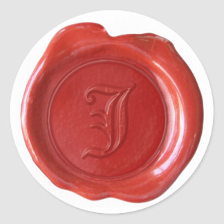 Wax Seal Monogram - Red - Old English - Letter J