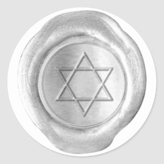 Wax Seal Monogram - Silver - Star Of David - Stickers