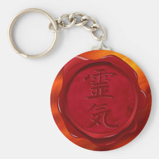 wax seal - REIKI   fire red waves Key Chains