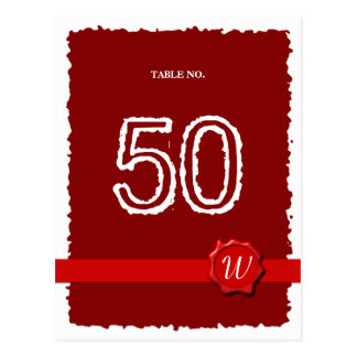Wax Seal Table Number Postcard
