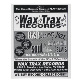 Wax Trax Records Poster