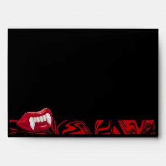 Wax Vampire Lips Greeting Card Envelope (WVL-1E)
