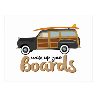 Wax Your Boards Postcard