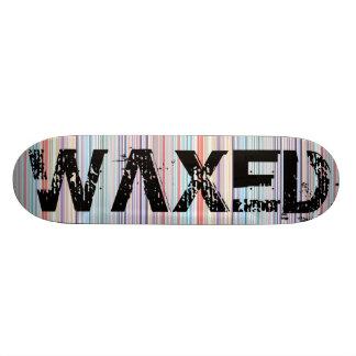 Waxed Candy Stripes Skateboard