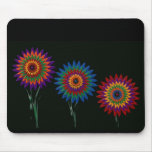 waxed flowers mouse mats