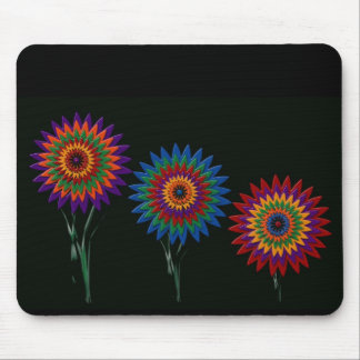 waxed flowers mouse pad