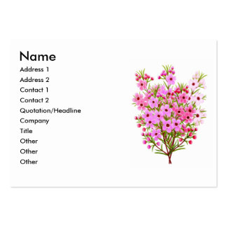 Waxflower Bouquet Profile Card Large Business Cards (Pack Of 100)