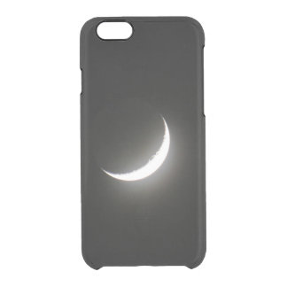 Waxing Crescent Moon Clear iPhone 6/6S Case