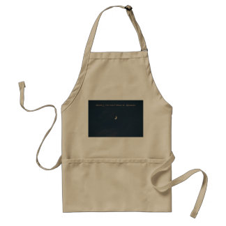 Waxing Crescent Moon In Aquarius Adult Apron