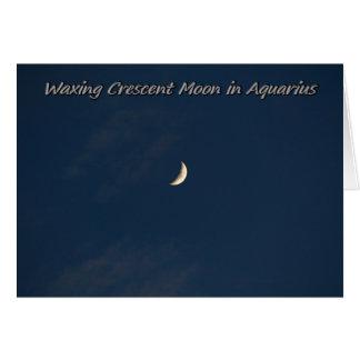 Waxing Crescent Moon In Aquarius Card