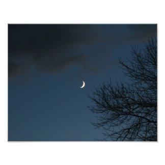 Waxing Crescent Moon In Sagittarius Art Photo