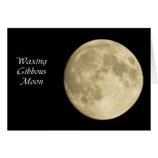 Waxing Gibbous Moon Card