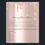 "Waxing Liability Waiver Release Form Spark Rose Flyer<br><div class=""desc"">florenceK design</div>"