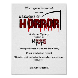 Waxworks of Horror Production Poster