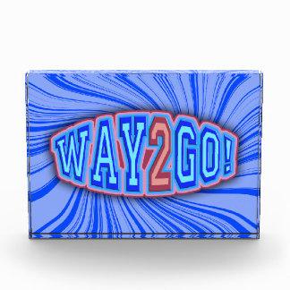 Way 2 Go! Acrylic Award