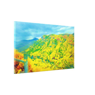 Way Above the Mountains Air Brushed Canvas Print