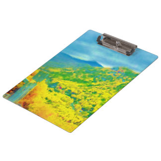 Way Above the Mountains Air Brushed Clipboard