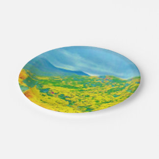 Way Above the Mountains Air Brushed Paper Plate