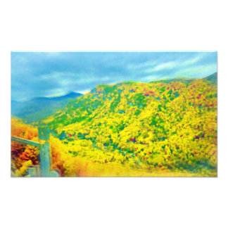 Way Above the Mountains Air Brushed Photograph
