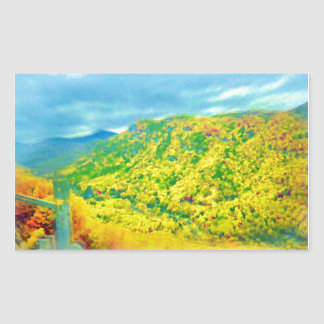 Way Above The Mountains Air Brushed Rectangular Sticker
