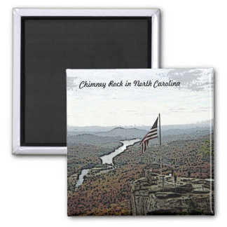 Way Above the Mountains Painted 2 Inch Square Magnet