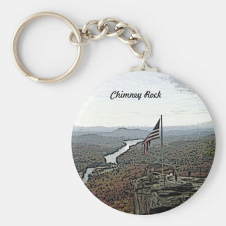 Way Above the Mountains Painted Basic Round Button Keychain
