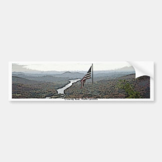 Way Above the Mountains Painted Bumper Sticker