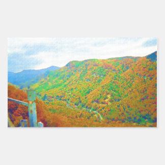 Way Above the Mountains Rectangular Sticker