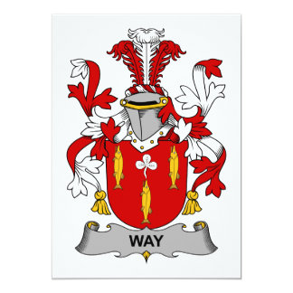 Way Family Crest Card